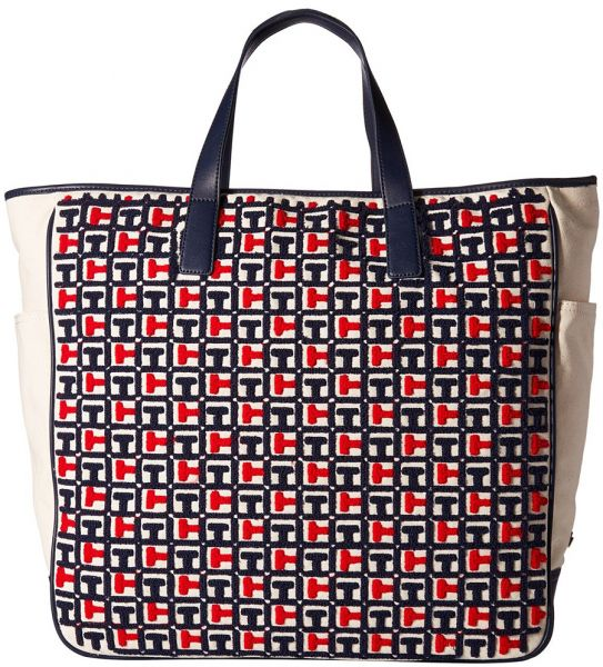 fcb470aa971 Tommy Hilfiger Emily Terry Tote Bag for Women - Navy   Red   Bags ...