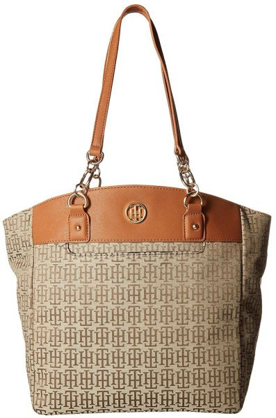 449d7a27a38 Tommy Hilfiger Evaline Convertible Tote Bag for Women, Leather - Beige