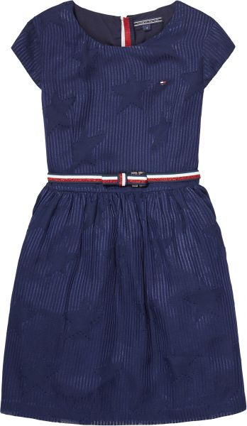 Souq Tommy Hilfiger Capped Sleeve A Line Dress For Girls 12