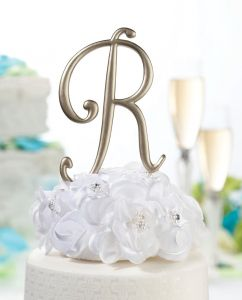lillian rose monogram cake topper letter c gold