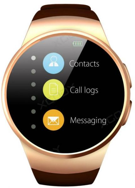kingwear Smart Watch Silicone Band For Android & iOS,Gold - KW18