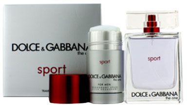 The One Sport by Dolce & Gabbana Gift Set for Men - Eau de Toilette, 100 ml - 75 ml, 2 Count