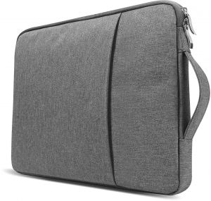 Grey 15.6 Inch Laptop Sleeve Slim Protective Case Pocket Bag Pouch Water Resistant Skin Cover for Carrying Notebook Computer MacBook Pro Acer Dell Asus ...