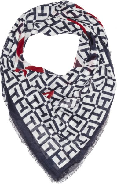 01aa5ac90 Tommy Hilfiger Mascot Race Square Scarf for Women - Multi Color ...