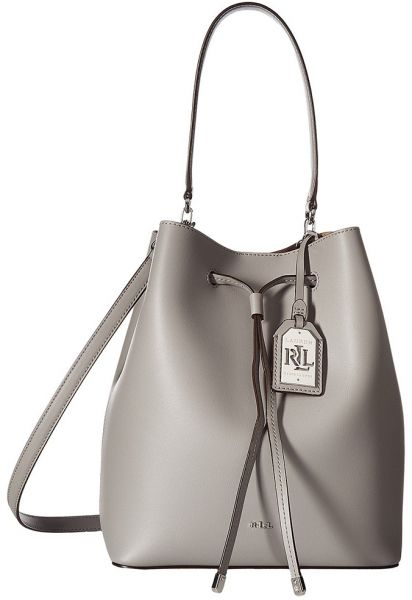 LAUREN Ralph Lauren Dryden Debby Drawstring Bucket Bag with Small ... 1870930350323