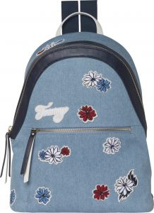 09692457134a Tommy Hilfiger Flower Embroidery Fashion Backpack - Blue