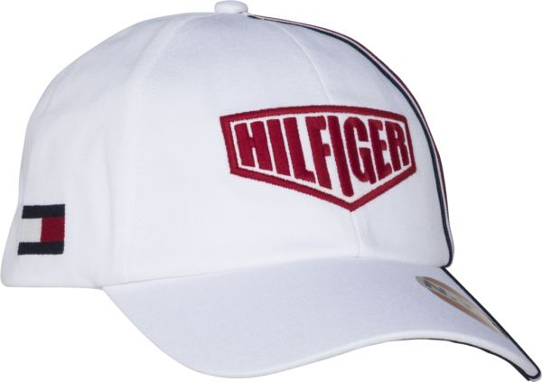 bdf5ffb2 Tommy Hilfiger Racing Badge Snapback Cap for Men - Bright White ...