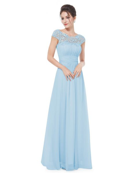 Ever Pretty Womens Lace Open Back Floor Length Evening Dress 12 US Blue  ee3844fe7