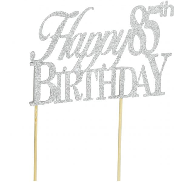 All About Details Pink Happy 85th Birthday Cake Topper