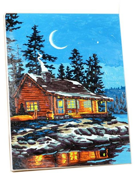 Souq | Cottage Handmade Painting DIY Canvas Painting By Numbers Kit ...