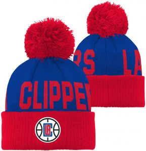 official photos 0a210 901ff NBA Los Angeles Clippers Children Boys Cuffed Knit with Pom Hat, 1 Size,  Blue