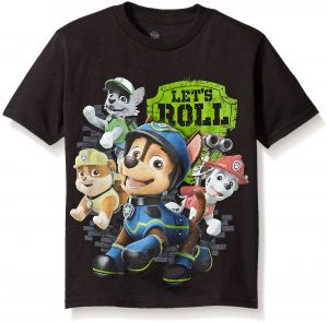 Paw Patrol Little Boys Characters Short Sleeve T Shirt Black 7
