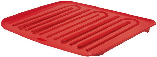 Rubbermaid Antimicrobial Drain Board Large Red Fg1182arred