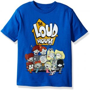 Nickelodeon Little Boys The Loud House Short Sleeve T Shirt Royal M 5 6