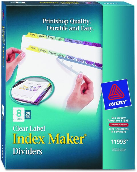 Souq | Avery Index Maker Clear Label Dividers, 8-Tab, Multi-Color ...