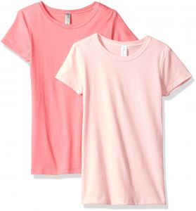 fd03628ade0 Clementine Big Girls  Everyday T-Shirts Crew 2-Pack