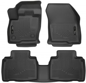 Rugged Ridge All-Terrain 84902.06 Grey Front Row Floor Liner For Select Ford F-250 and F-350 Models