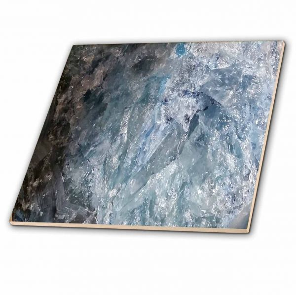 Rose Agate Abstract Image Of Close Up Blue