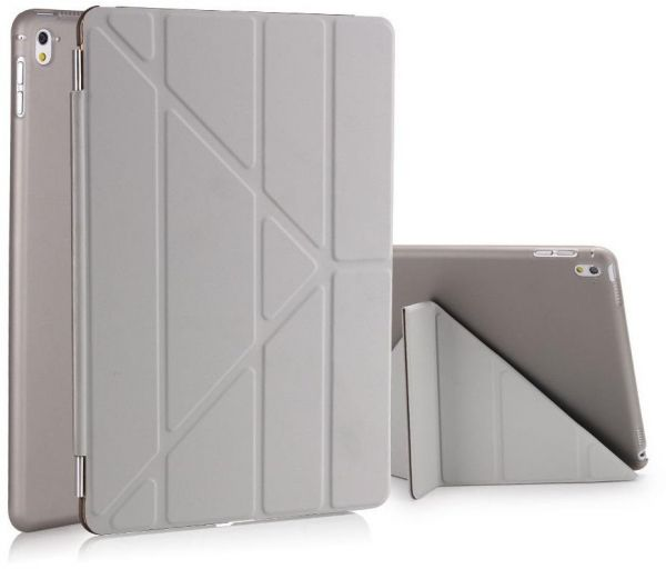 Foldable Leather Shell Magnetic Smart Case Cover For Apple iPad Pro 9.7 Inch 2016 Tablet Grey
