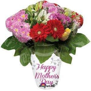 Happy Mothers Day Flower Vase Super Shape Foil Balloon Souq Uae