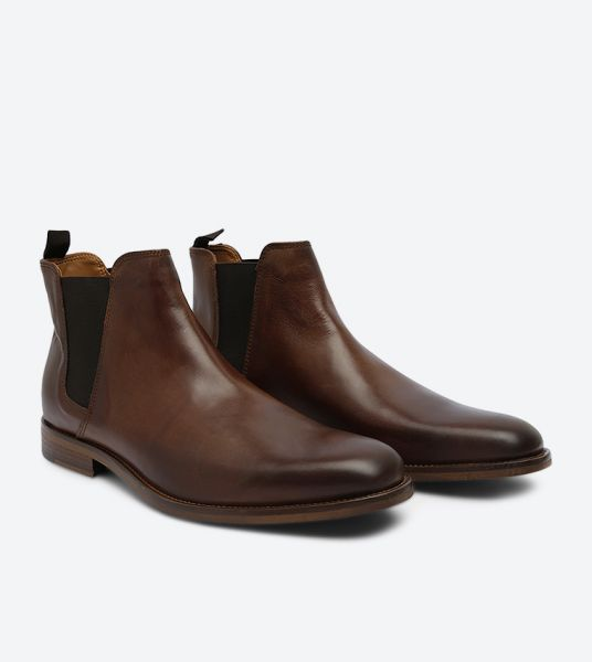 Aldo Vianello R Chelsea Boots For Men Dark Brown
