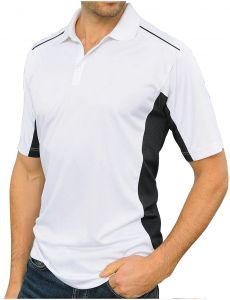 4dea69a91990 Santhome Sports Polo With Uv Protection for Men - White Black
