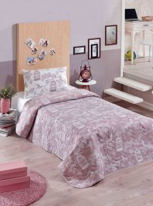 c826b7865b6 Eponj Home Samyeli White and Pink Single Size 155 x 200 cm Quilt Cover Set  - 2 Pieces
