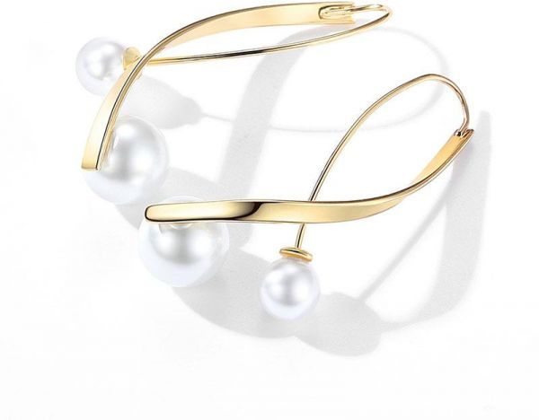 Miss JuJu Gold Pearl Earrings for Women Fashion Jewelry