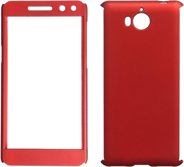 new style 2e212 d22f1 360 Full Cover For Huawei Y5 2017, Red
