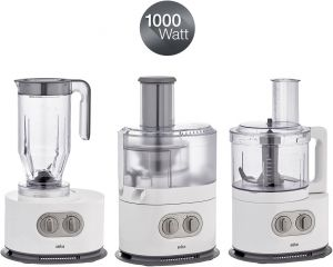 Braun Idenycollection Food Processor 1000 Watts Fp5160 White
