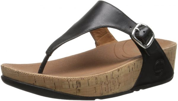 6c9ff82e48484 FitFlop Women s The Skinny Cork Leather Flip Flop