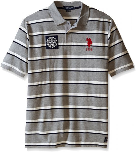Mens Big and Tall Big /& Tall Solid Slim Fit Pique Polo U.S Polo Assn