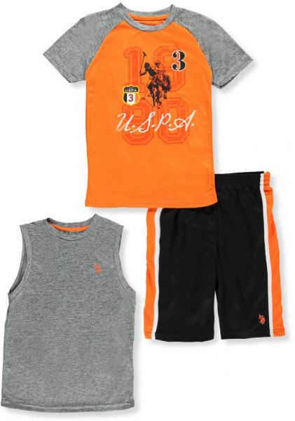 Polo Assn U.S Baby Boys T-Shirt and Mesh Short Set