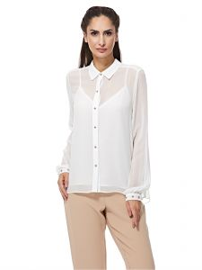 59419a1b170 Juicy Couture Ivory Shirt Neck Blouse For Women