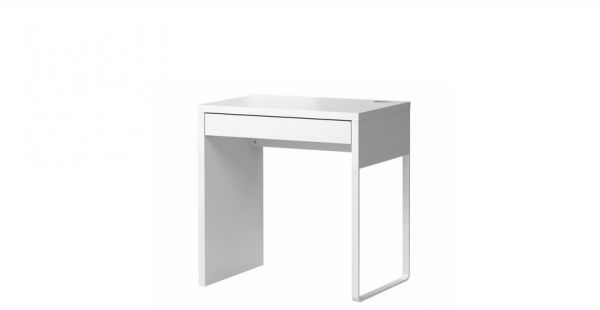 Study Desk With Drawer White
