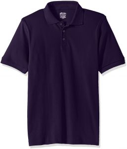 9db995215b8 Classroom Big Kids Boys' Uniform Short Sleeve Interlock Polo, Sos Kelly  Green, M