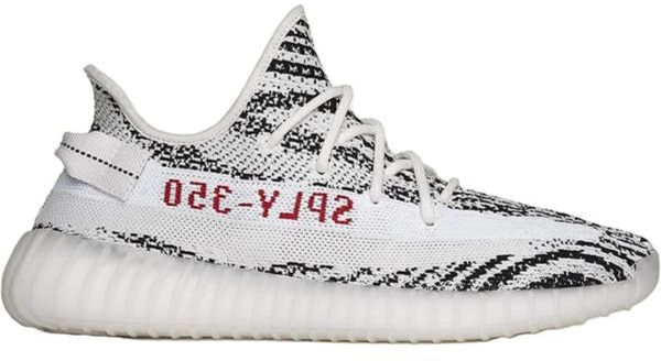 65db2067d895 Adidas 2018 MEN AND WOMEN WEST YEEZY 350 V2 ZEBRA WHITE BLACK