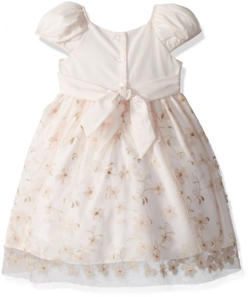 Laura Ashley London Little Girls Embroidered Puff Sleeve Party