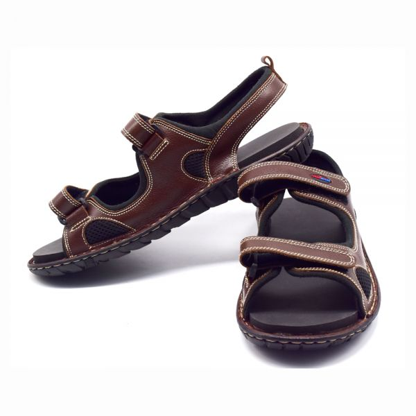 6198103b5c4 ShearWater Airborne MCR Nubuck Diabetic Sandal For Men - Brown Price ...