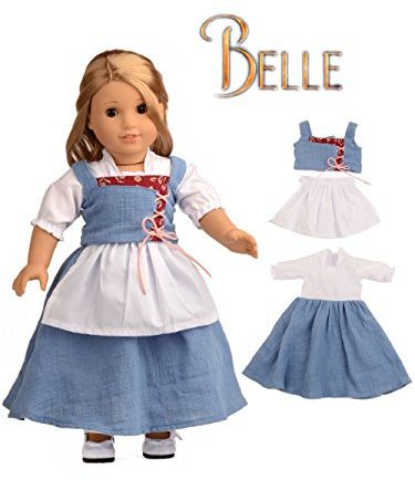 Souq | Sweet Dolly Doll Clothes Belle Village Dress for 18 Inch ...