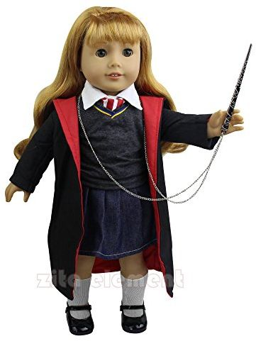 Zita Element Doll Clothes Hermione Granger 8pcs Outfit Hogwarts Like Handmade Doll Clothes Shoes For American Girl Doll And Other 18 Inch Doll Xmas