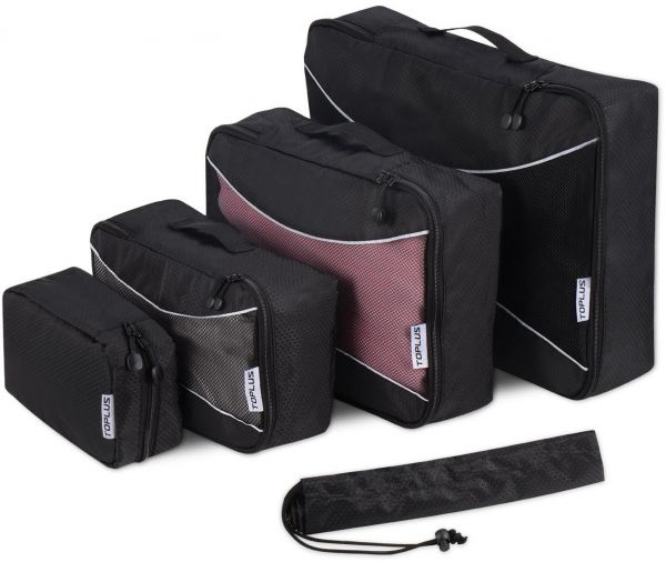 5ad96e0caeb Toplus 5 Set Packing Cubes Travel Luggage Packing Organizers with ...