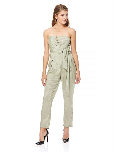 b15db819d68 GLAMOROUS Women s Sage Green Tie Front Jumpsuit