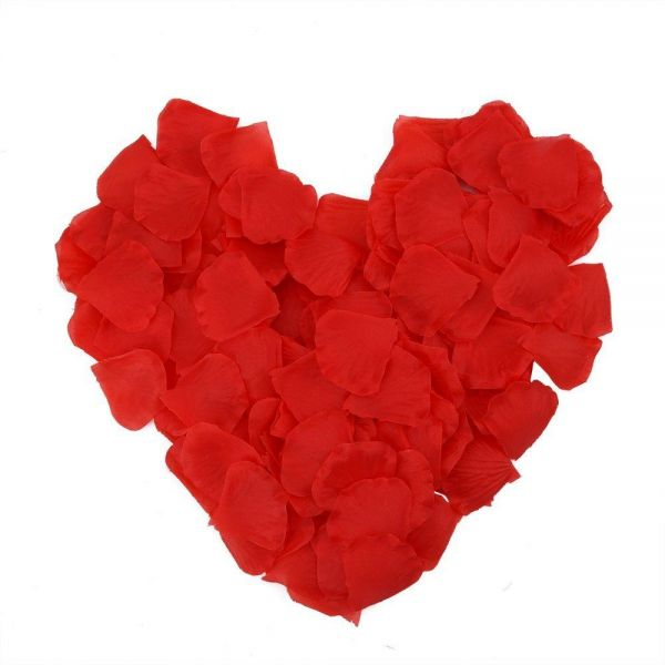 Silk rose petals artificial flower wedding celebrations party silk rose petals artificial flower wedding celebrations party supplies decoration home and craft decoration diy red color 1000pcs mightylinksfo
