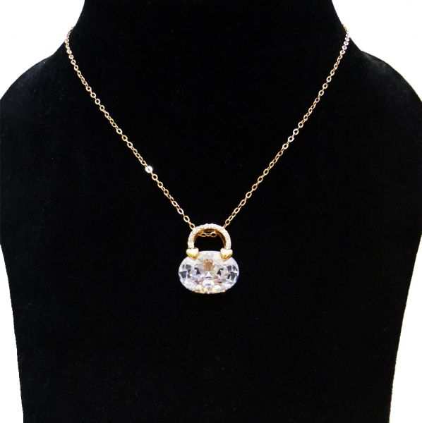Women's Pendant Necklace Turkish Gold With Cubic Zircon