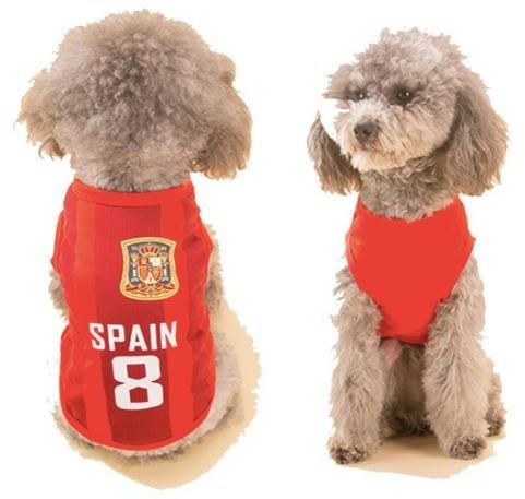 cb3c95bba23 Dog Clothes Football T-shirt Dogs Costume National Soccer World Cup ...