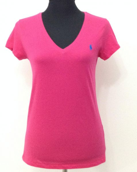 Polo Ralph Lauren Pink V Neck T Shirt For Women Ksa Souq