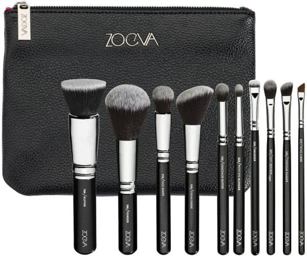 Zoeva Fashion 15pcs Complete Eyes Wool Makeup Brushes Sets Tools Dazzle  Colour Brushes for Women-Black  c5d77e33f