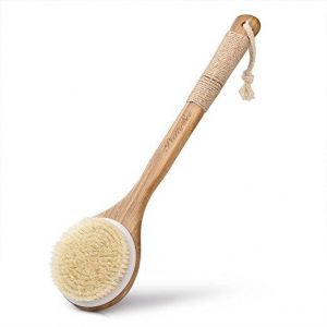 Bath Body Brush, RoyalCare Boar Bristles Exfoliating Body Massage with Long Wooden Handle for Dry Brushing and Shower