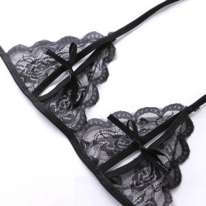 Women s Sexy Lingerie Embroidery Lace Bra Panty Set 819bb536b